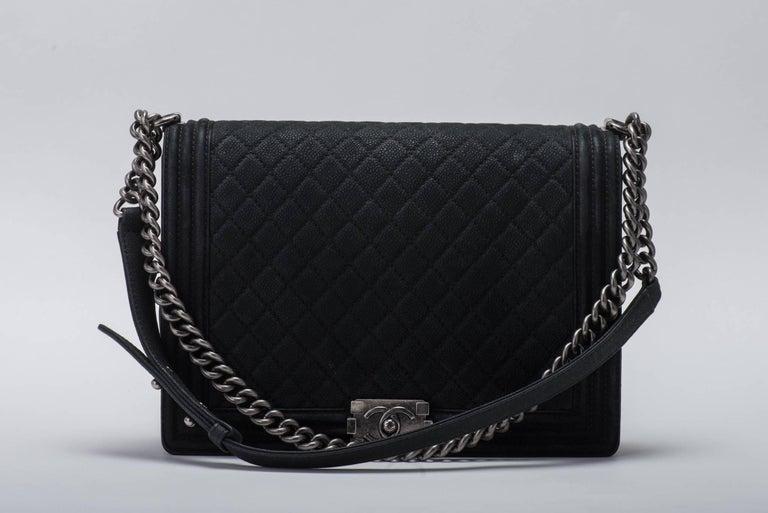 New in Box Chanel Matte Caviar Jumbo Boy Bag 2