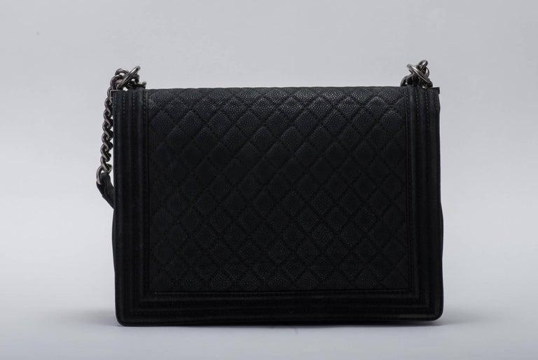 New in Box Chanel Matte Caviar Jumbo Boy Bag 5