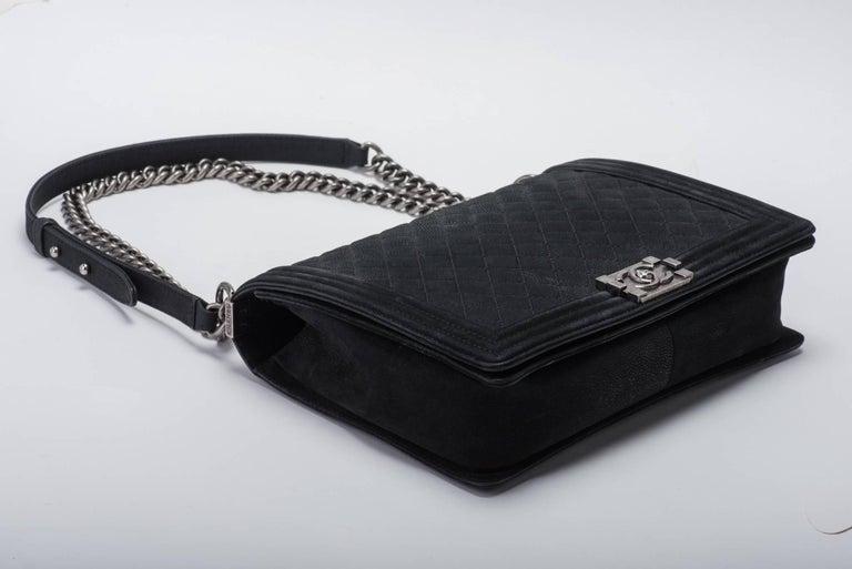 New in Box Chanel Matte Caviar Jumbo Boy Bag 6