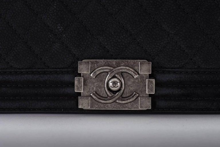 New in Box Chanel Matte Caviar Jumbo Boy Bag 8