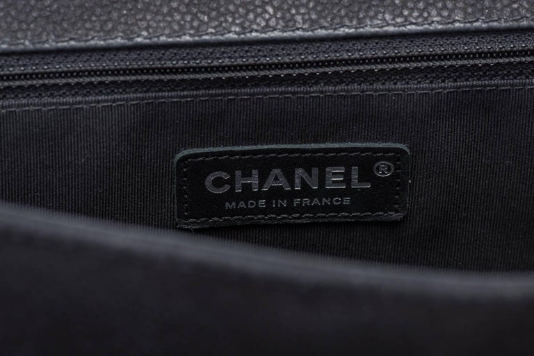 New in Box Chanel Matte Caviar Jumbo Boy Bag For Sale 4
