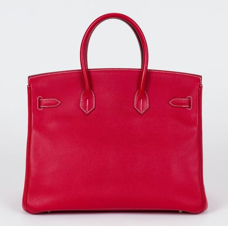 Red Hermes Candy Birkin 35 Rouge Casaque For Sale