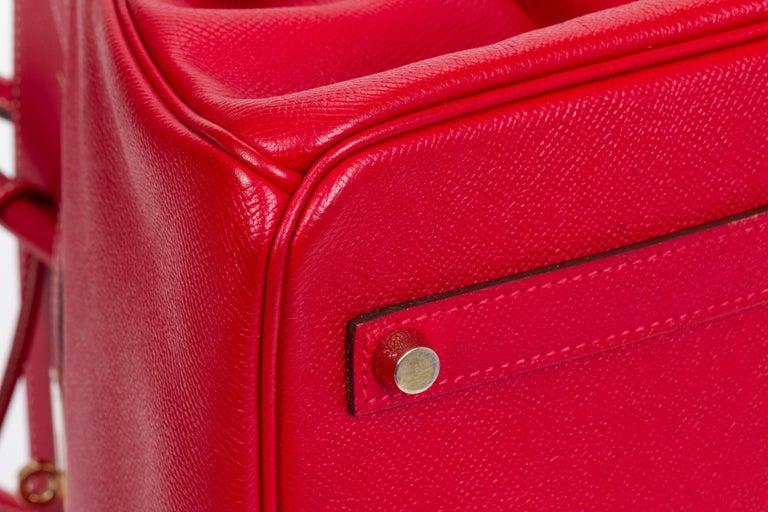 Women's or Men's Hermes Candy Birkin 35 Rouge Casaque For Sale