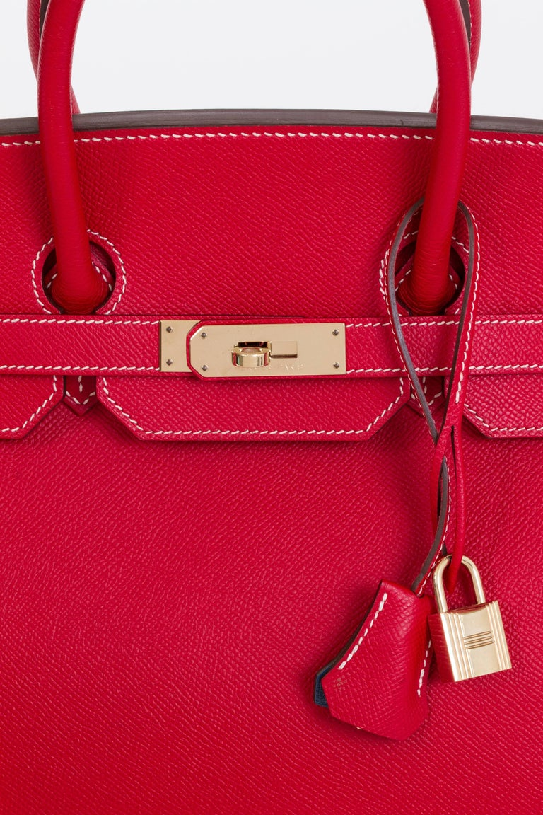 Hermes Candy Birkin 35 Rouge Casaque For Sale 1