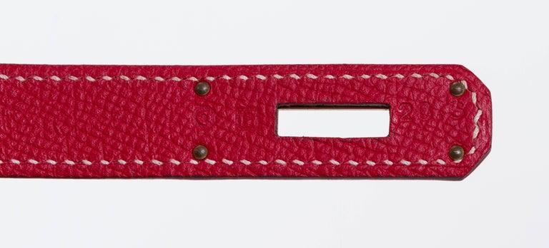 Hermes Candy Birkin 35 Rouge Casaque For Sale 2
