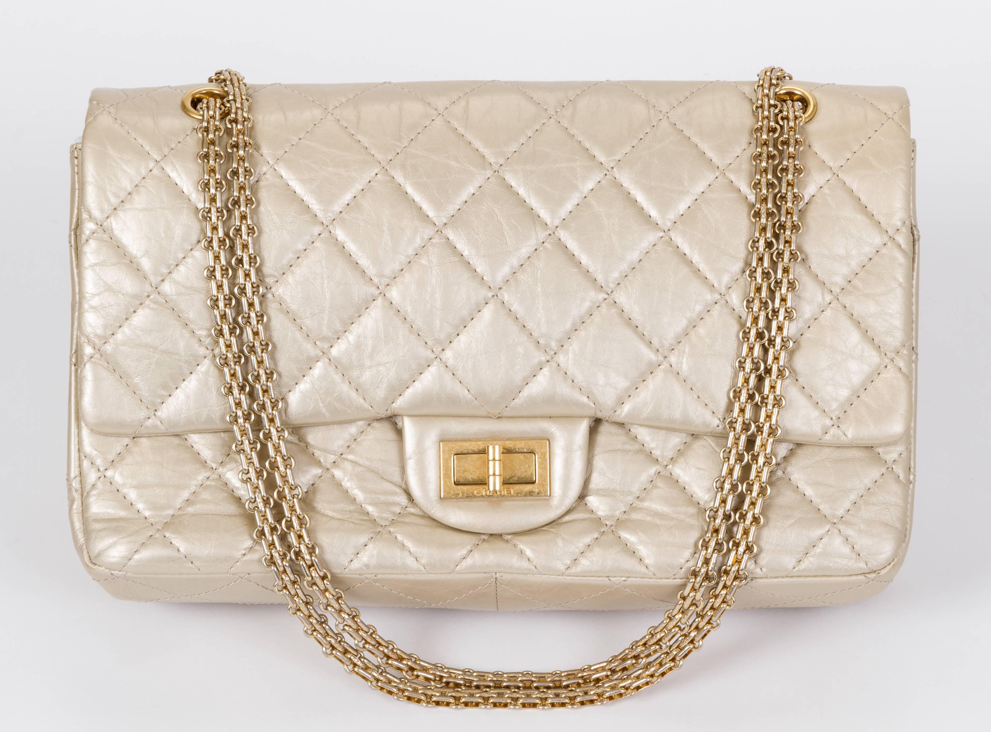 0dd11ca2f86c Chanel Gold Distressed Jumbo Reissue Bag at 1stdibs