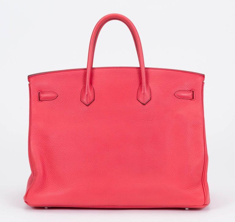 Herm 232 S Rose Jaipur 40cm Birkin Bag For Sale At 1stdibs