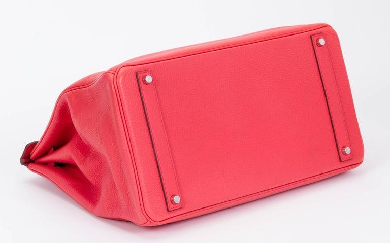 Red Hermès Rose Jaipur 40cm Birkin Bag For Sale