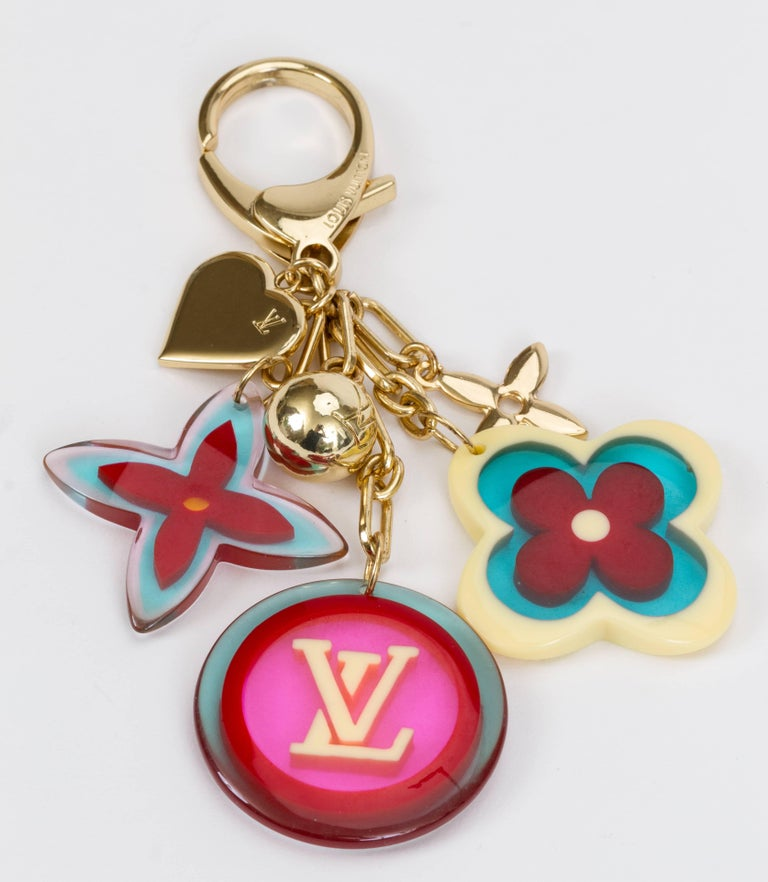 Beige Louis Vuitton Pop Color Keychain Bag Charm For Sale