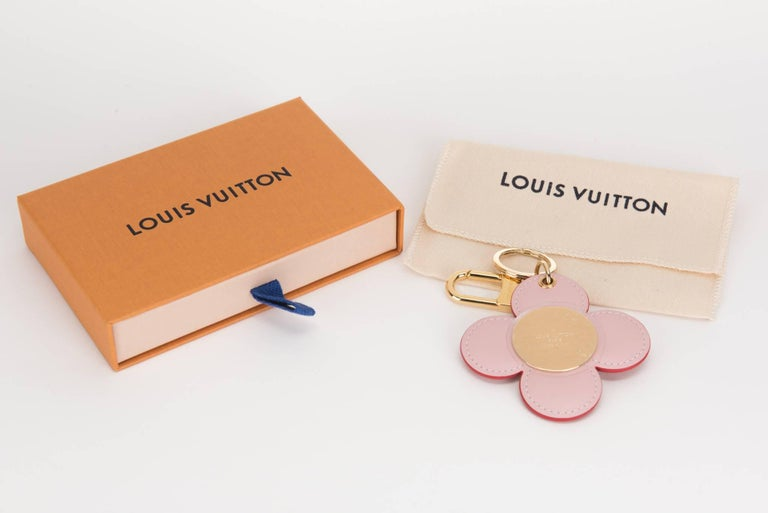 Red Louis Vuitton Limited Edition Flower Keychain Charm For Sale