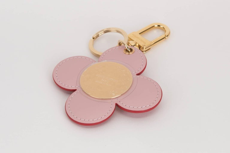 Louis Vuitton Limited Edition Flower Keychain Charm In New Condition For Sale In Los Angeles, CA