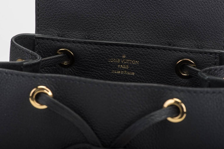 bdcd6968a78c Louis Vuitton Sold Out New Black Lockme Backpack at 1stdibs