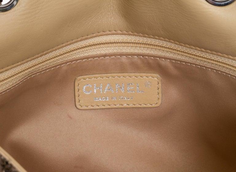 Women's Chanel Beige & Gold Sequins Flap Bag For Sale