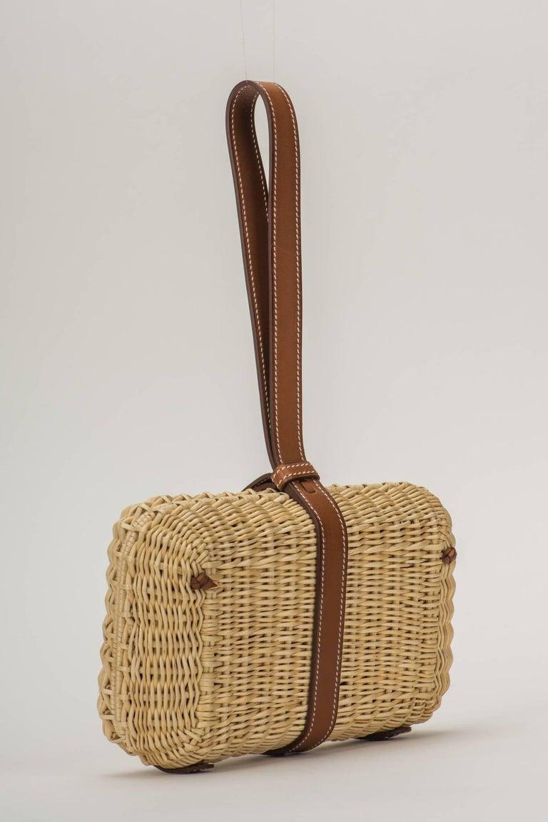 Brown Hermes Picnic Barenia Clutch Bag, 2017 For Sale
