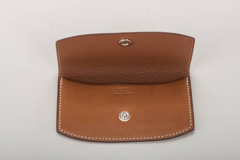 Hermes Picnic Barenia Clutch Bag, 2017 For Sale 4