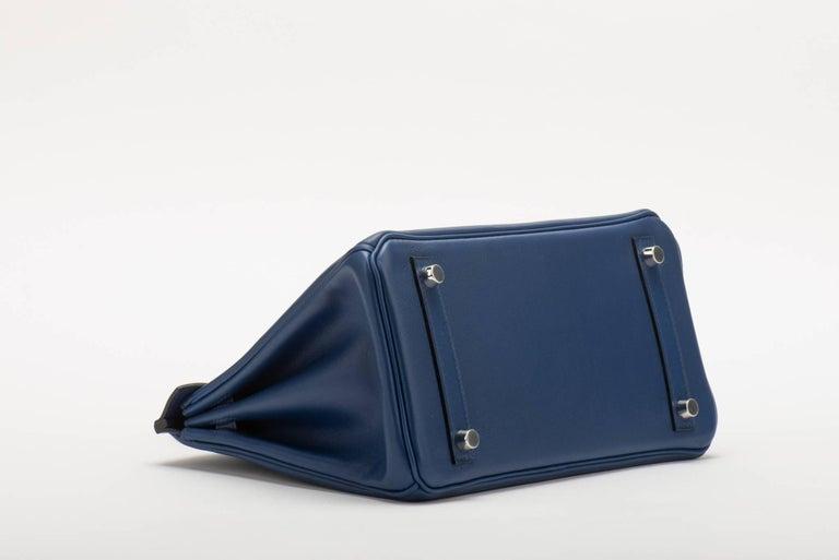 465191ff88d3 Women s Hermès Blue Nuit Swift 25cm Birkin Bag For Sale