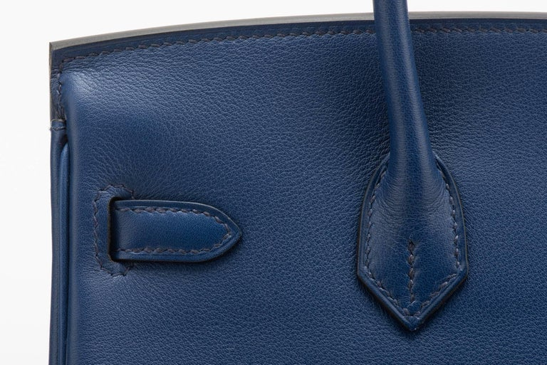 8f8b5dec06eb Hermès Blue Nuit Swift 25cm Birkin Bag at 1stdibs