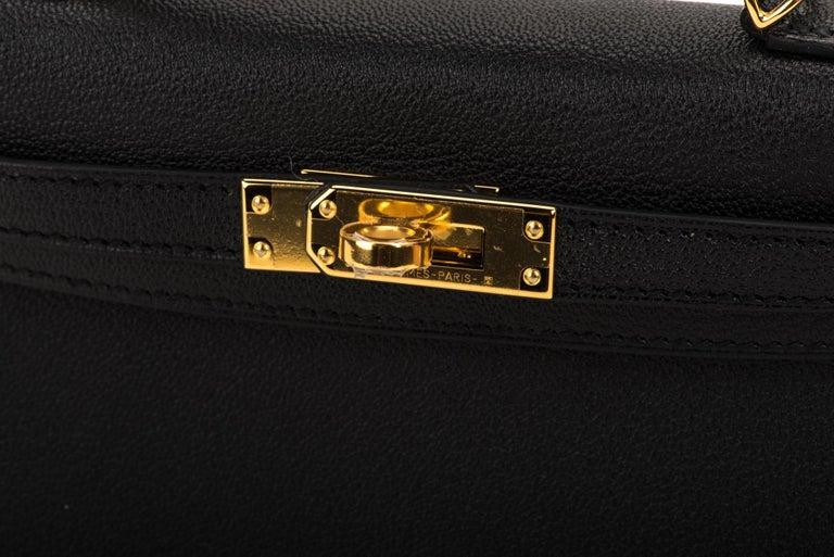 New Hermes VIP Mini Kelly II Black Gold Bag 1