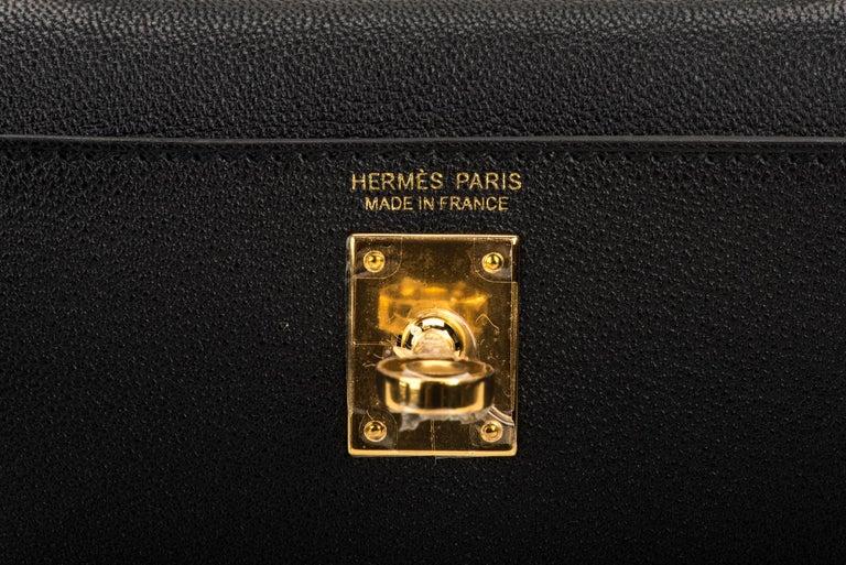 New Hermes VIP Mini Kelly II Black Gold Bag 3