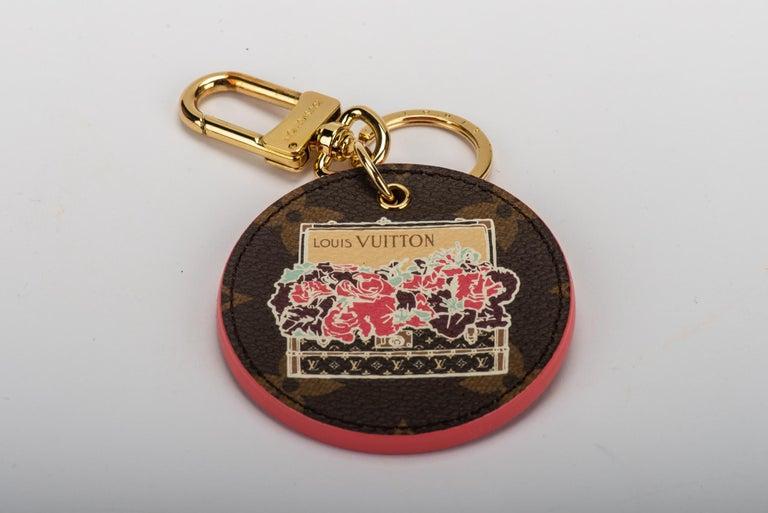 3ae2ce5110481 Neue Louis Vuitton Monogramm and Rosa Blume Schlüsselanhänger im ...