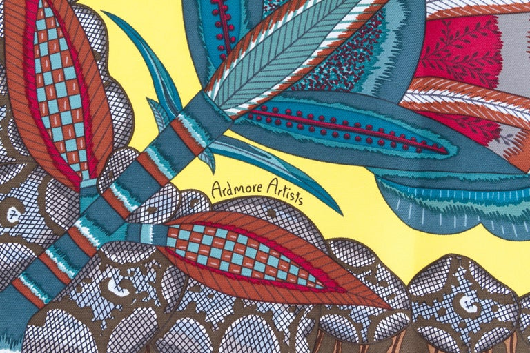 Women's Hermes Flowers of South Africa Silk Scarf For Sale