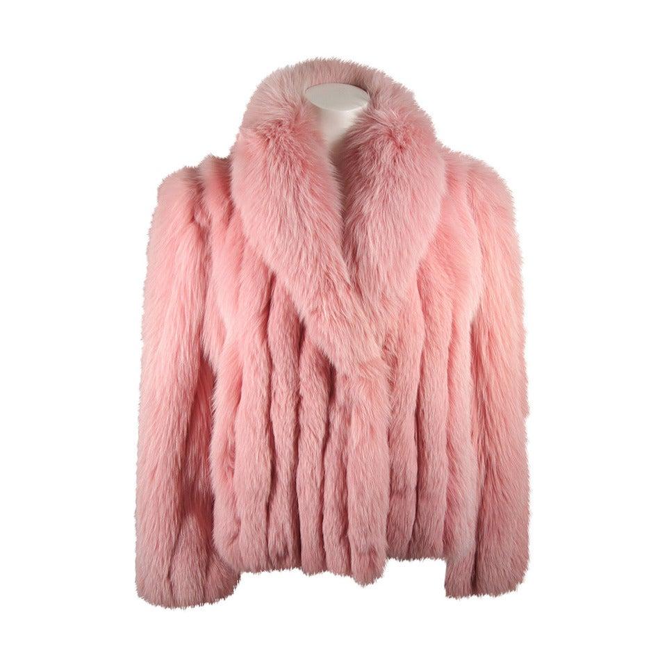 Pink Fox Fur Coat at 1stdibs