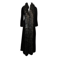 Velvet Feather Trim Coat Size 8 Victoria Royal
