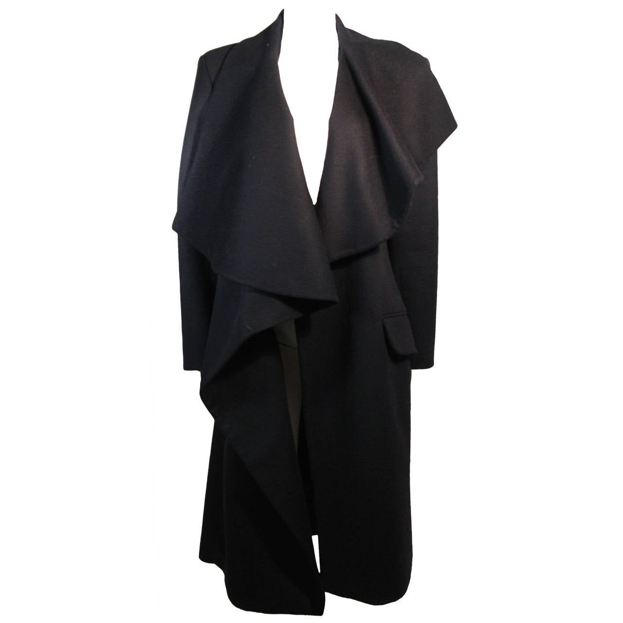John Galliano Over-Sized Asymmetrical Collar Coat Size 10 42 For Sale