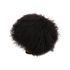 Patricia Underwood Black Mongolian Lamb Hat