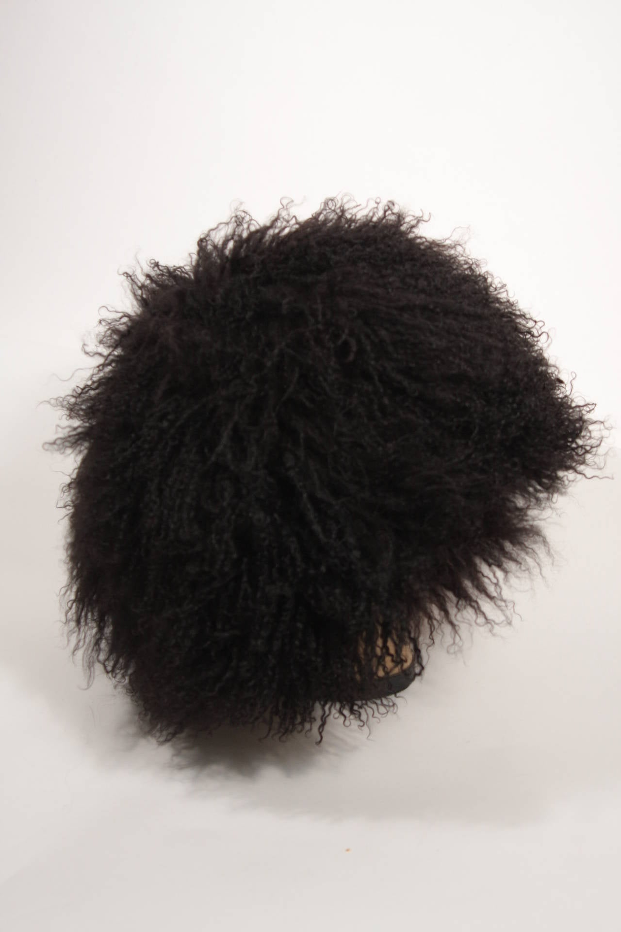 Women's Patricia Underwood Black Mongolian Lamb Hat For Sale