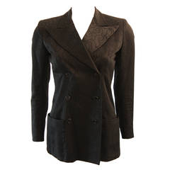 Yves Saint Laurent 1970's Double Breast Silk Blazer Size 38