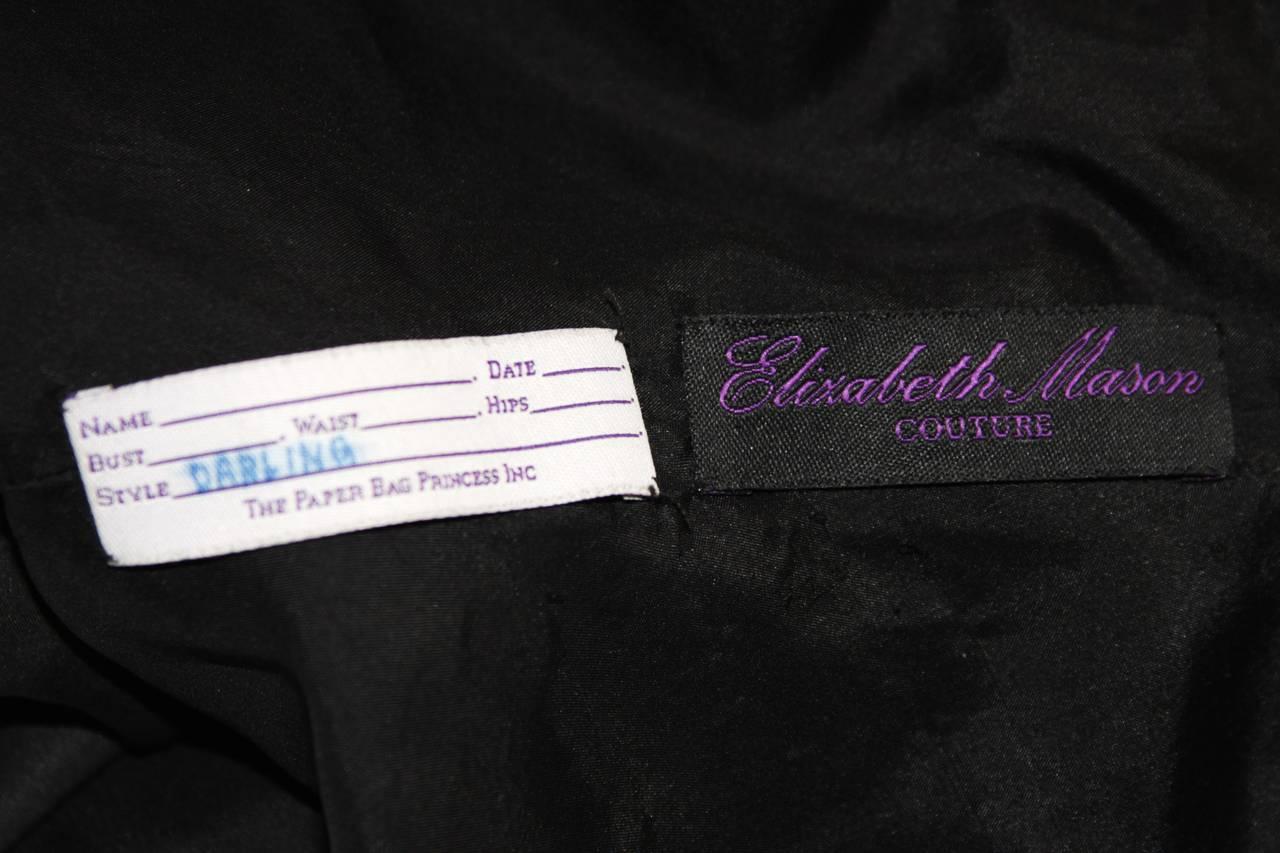 Elizabeth Mason Couture Black Silk Ruffle Bolero For Sale 1
