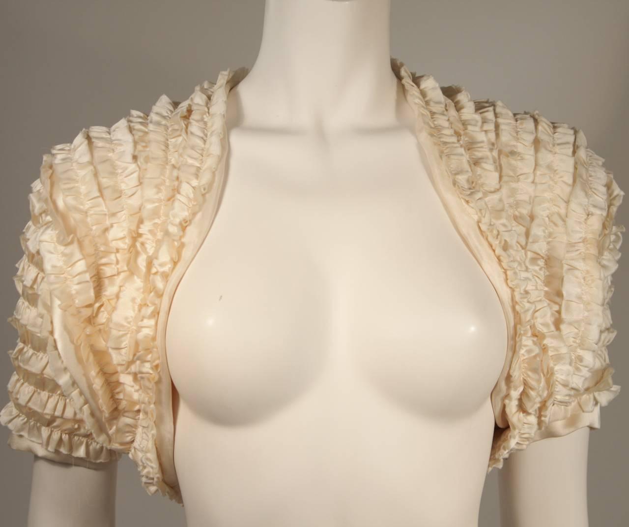 Elizabeth Mason Couture Silk Ruffle Bolero 3
