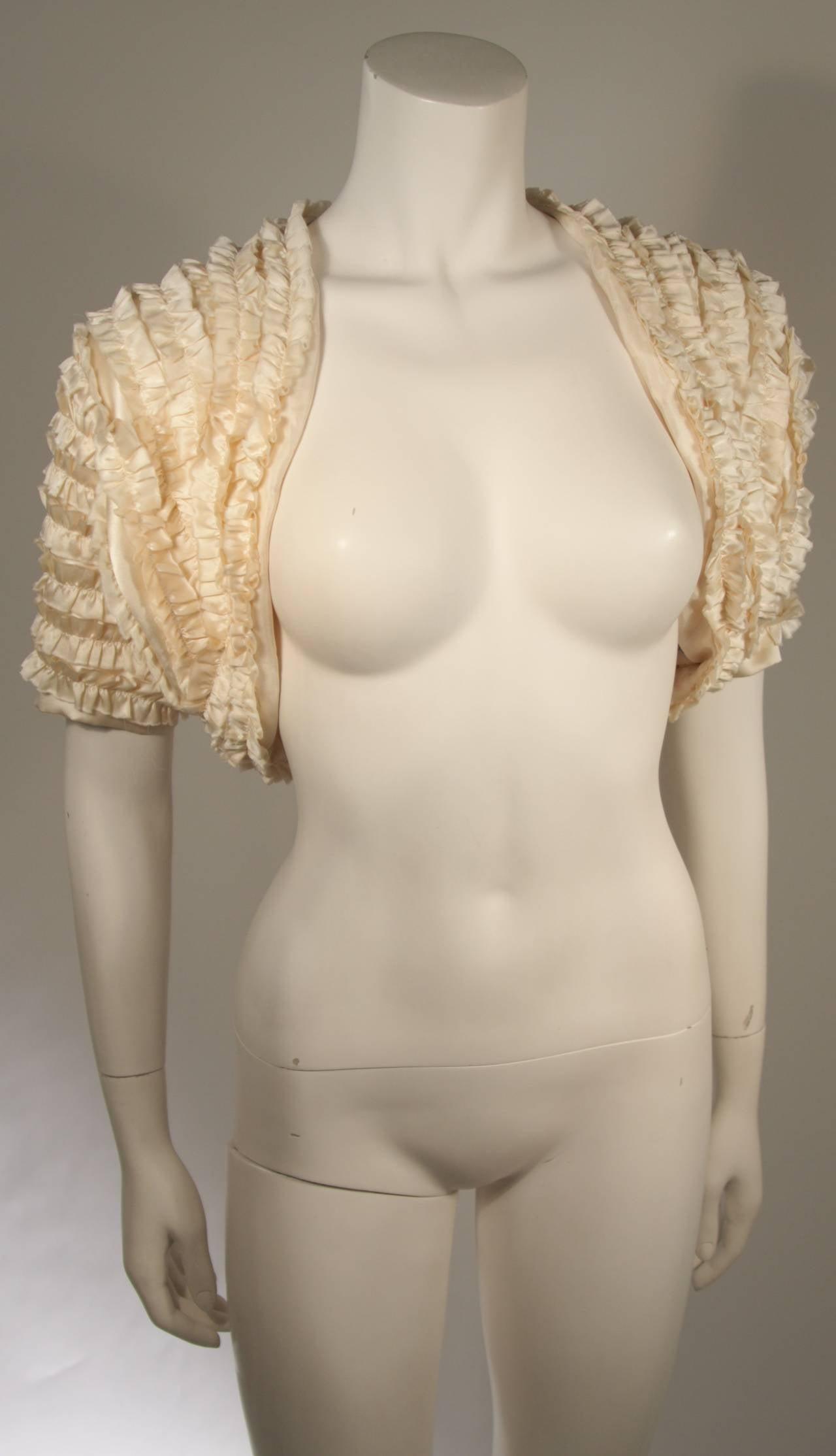 Elizabeth Mason Couture Silk Ruffle Bolero 2