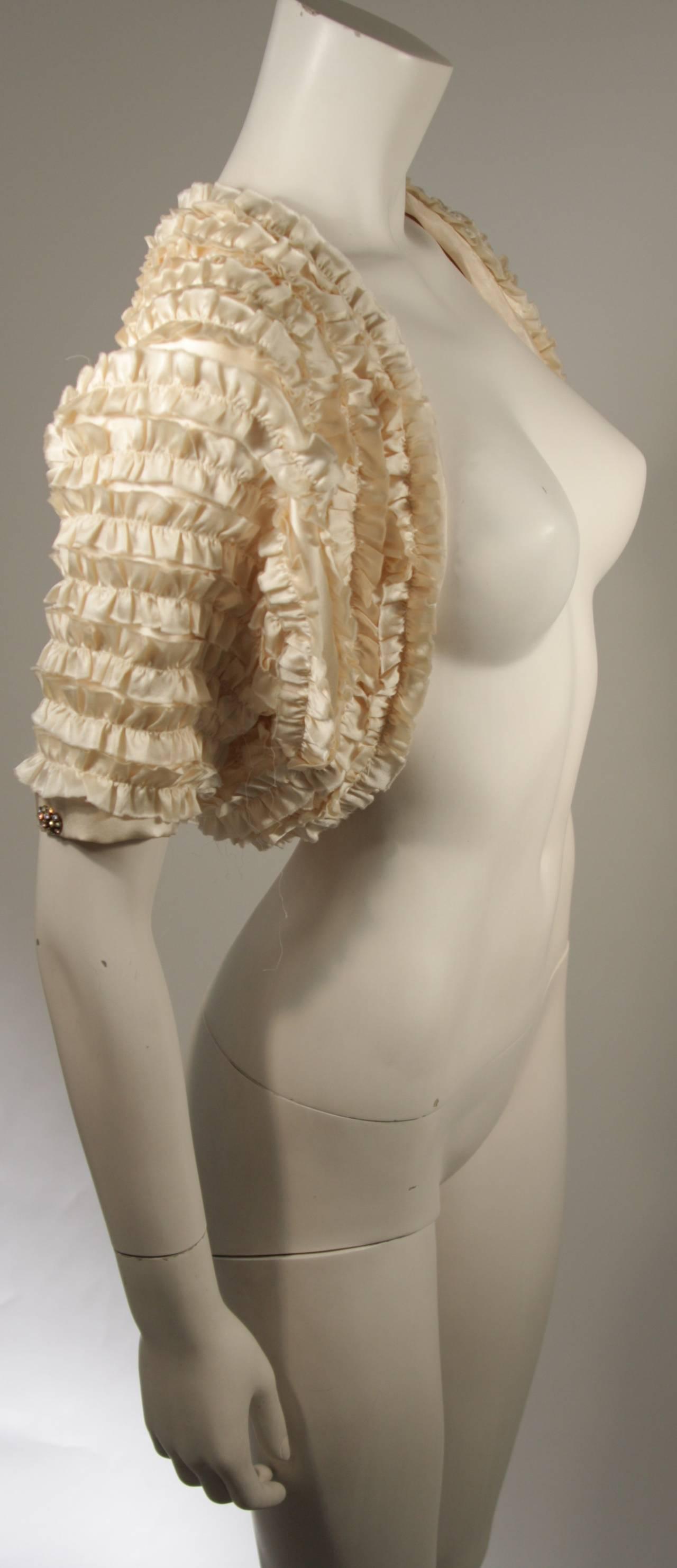 Elizabeth Mason Couture Silk Ruffle Bolero 4