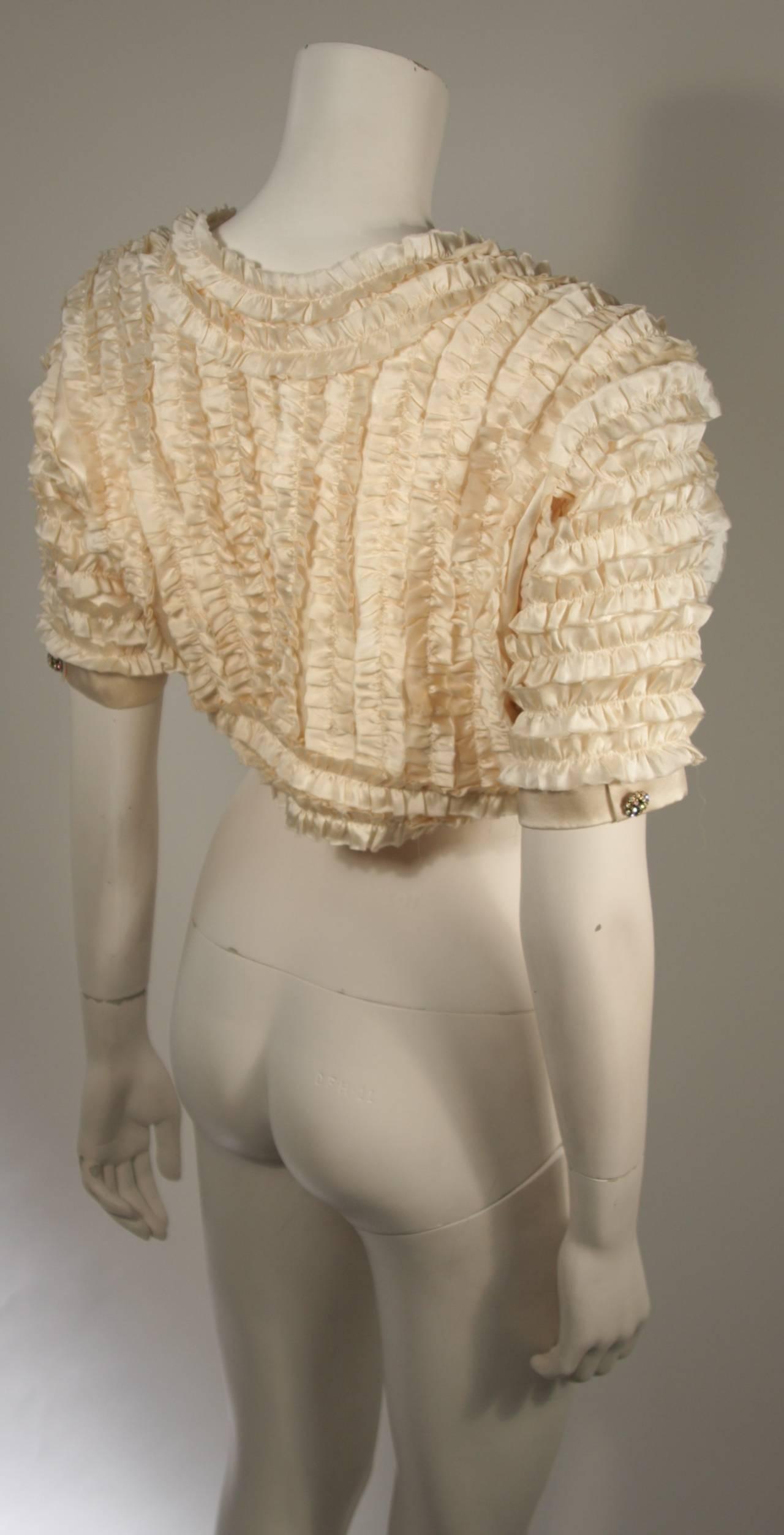 Elizabeth Mason Couture Silk Ruffle Bolero 5