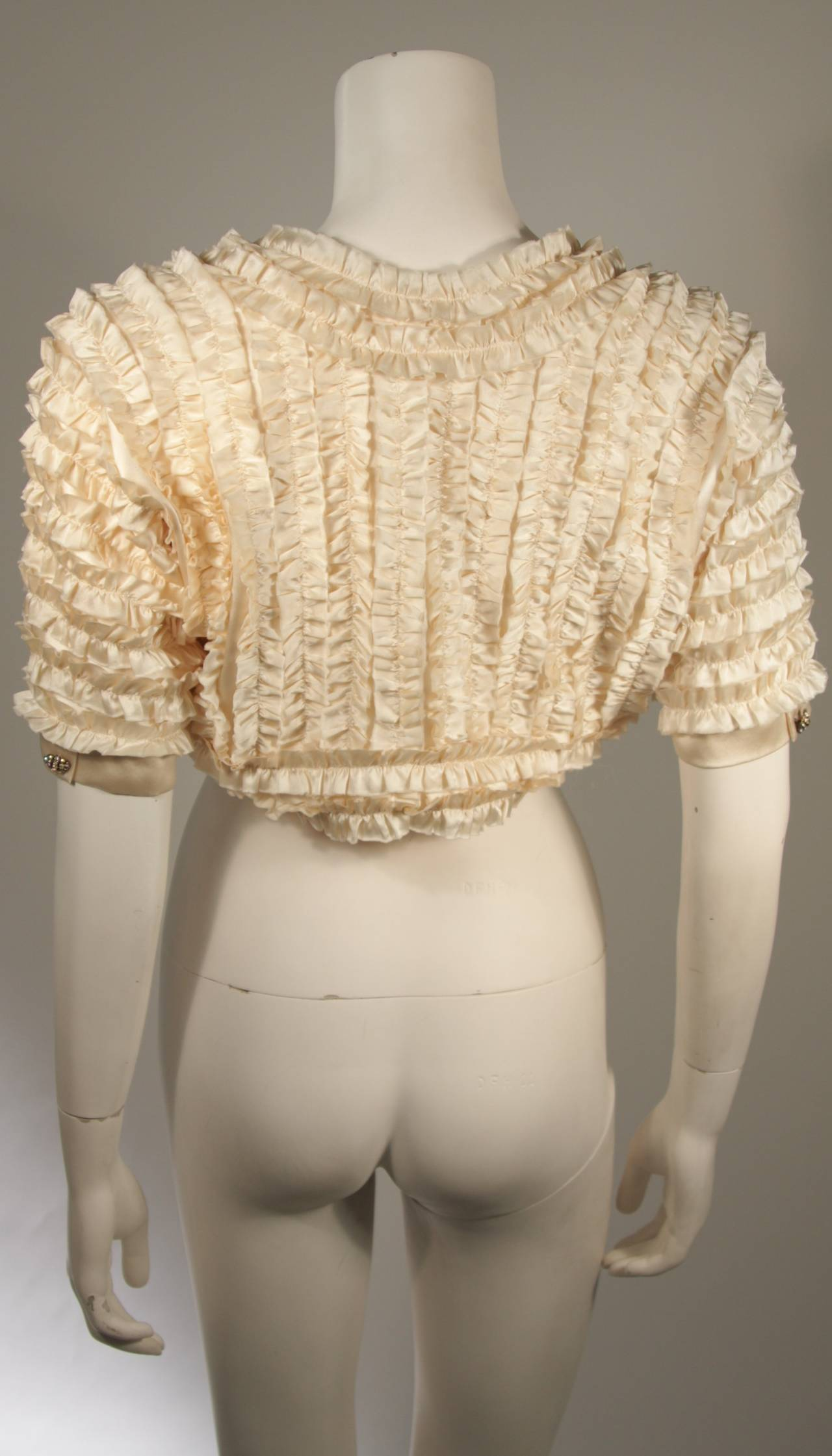 Elizabeth Mason Couture Silk Ruffle Bolero 6