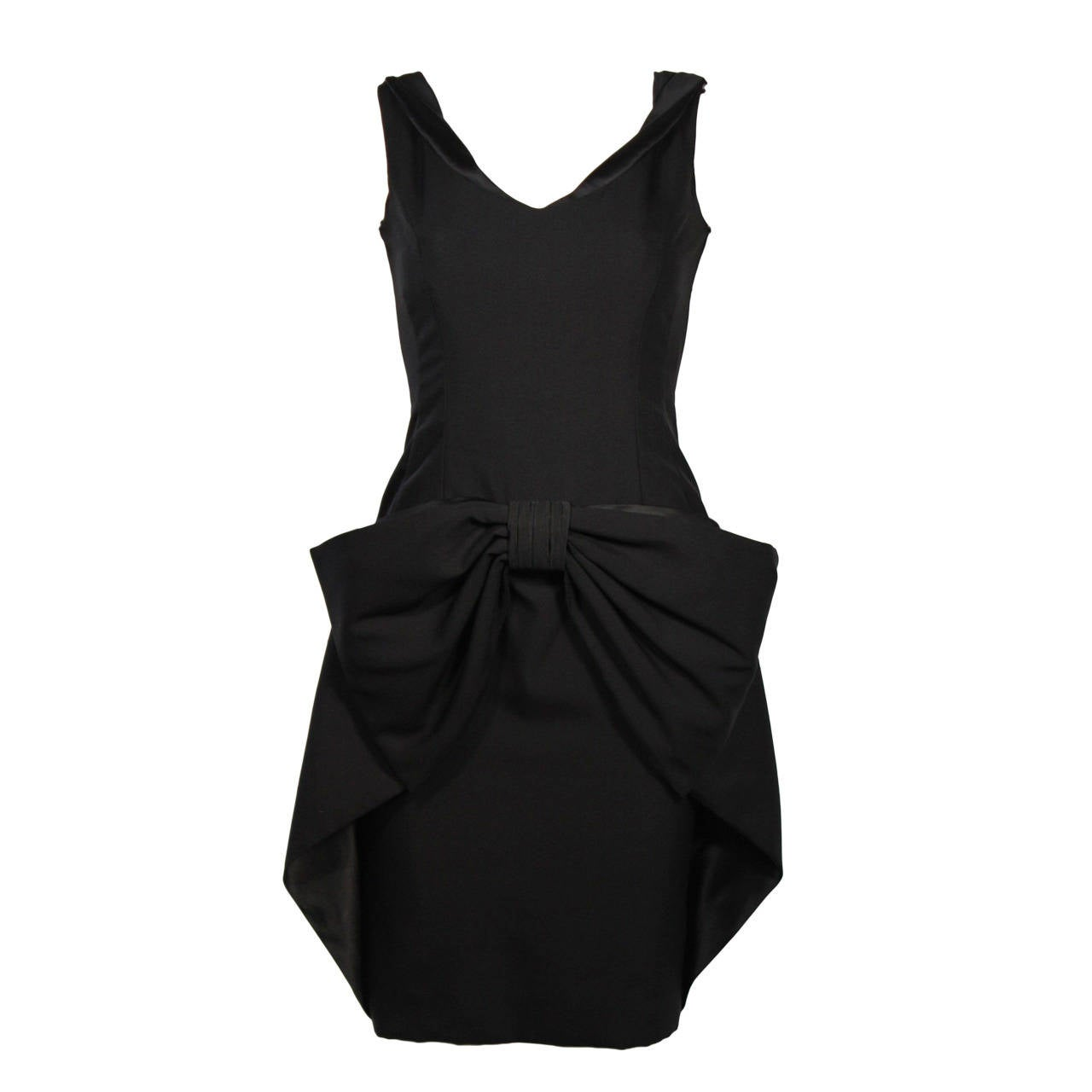 Elizabeth Mason Couture Silk Bow Cocktail Dress Size 2 (or made to measure)
