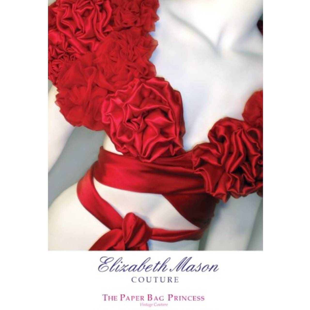 "Elizabeth Mason Couture Made to Measure Red Silk ""Rose"" Wrap 9"