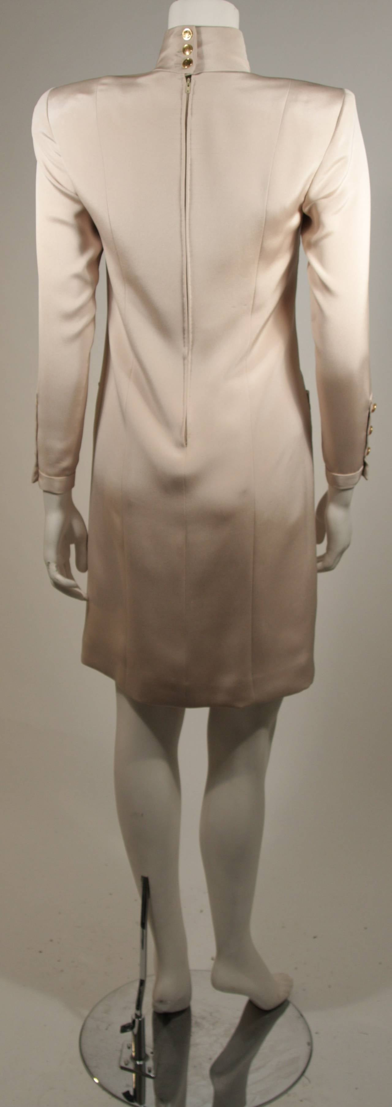 1980 39 s chanel haute couture champagne silk military for Haute couture spelling