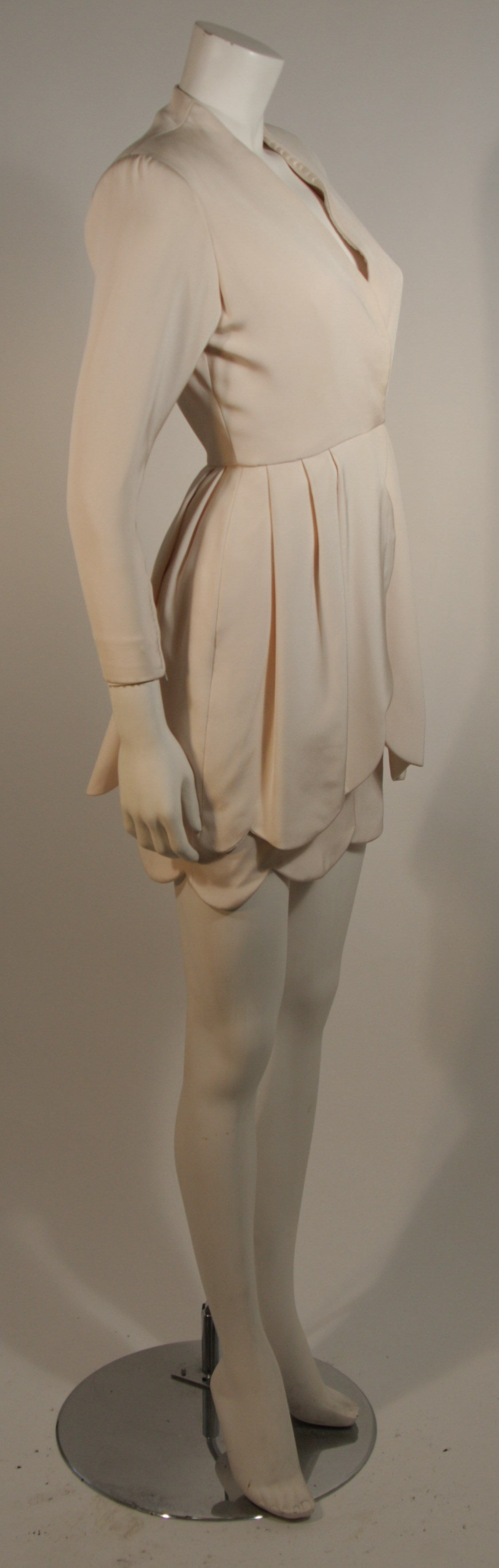 Women's Attributed to Valentino Scallop Edge Cocktail Dress Size Small For Sale
