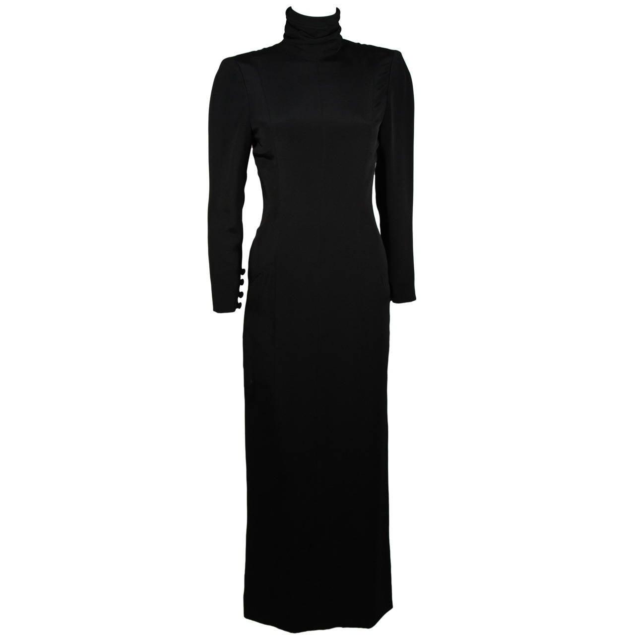 Chanel haute couture black silk military inspired long for Chanel haute couture price range