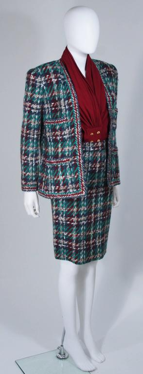 CHANEL COUTURE Wool Boucle and Silk Skirt Suit Ensemble 3 Piece Size 4-6 4