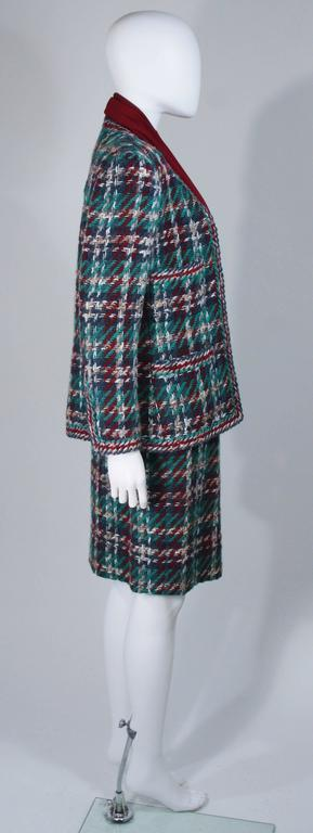 CHANEL COUTURE Wool Boucle and Silk Skirt Suit Ensemble 3 Piece Size 4-6 5
