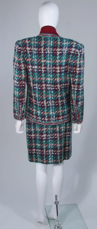 CHANEL COUTURE Wool Boucle and Silk Skirt Suit Ensemble 3 Piece Size 4-6 6