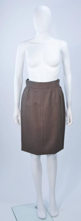GIVENCHY COUTURE Wool Silk & Snakeskin 4pc Skirt Suit with Belt Size 4-6 8
