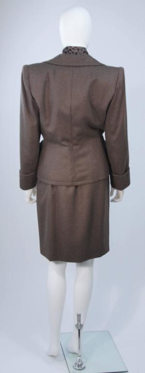 GIVENCHY COUTURE Wool Silk & Snakeskin 4pc Skirt Suit with Belt Size 4-6 5