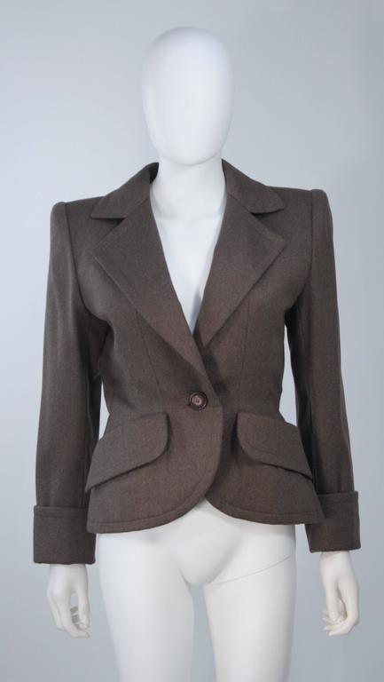 GIVENCHY COUTURE Wool Silk & Snakeskin 4pc Skirt Suit with Belt Size 4-6 For Sale 1