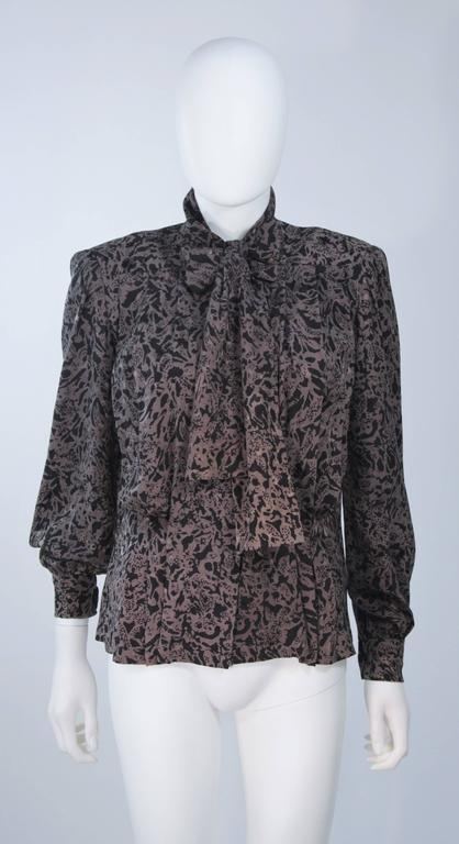 GIVENCHY COUTURE Wool Silk & Snakeskin 4pc Skirt Suit with Belt Size 4-6 For Sale 2
