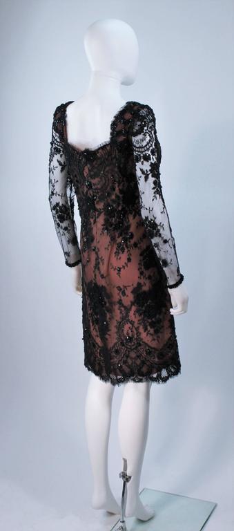 FE ZANDI Black Lace Embellished Cocktail Dress Size 8 For Sale 3